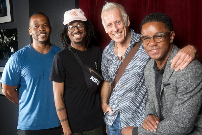 Warren Wolf, Joel Ross, Joe Locke, and Stefon Harris at the Jazz Gallery, New York City, Aug. 10, 2018