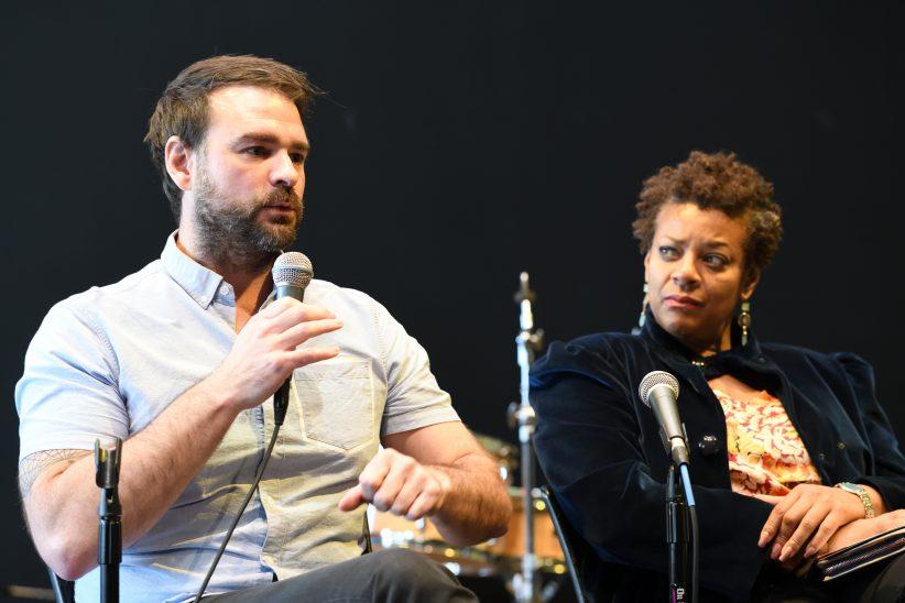 Mark Christman (Ars Nova Workshop) and Janis Burley Wilson (Pittsburgh International Jazz Festival) discuss their roles as jazz curators during 2018 Jazz Philadelphia Summit