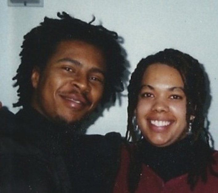 Roy Hargrove (left) and Monifa Brown, late 1990s
