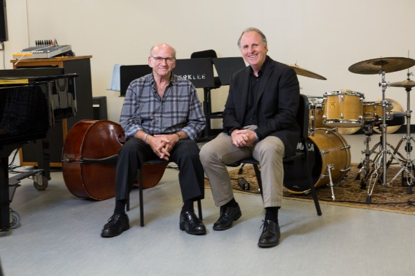 Dave Liebman with Berklee president Roger Brown