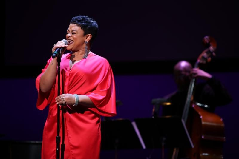 Laurin Talese performs during the Sarah Vaughan International Jazz Vocal Competition finals