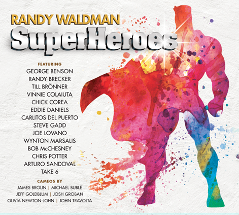 Cover of Randy Waldman album SuperHeroes