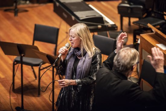 Dominique Eade and Ken Schaphorst at Jordan Hall, Boston, Dec. 2, 2018