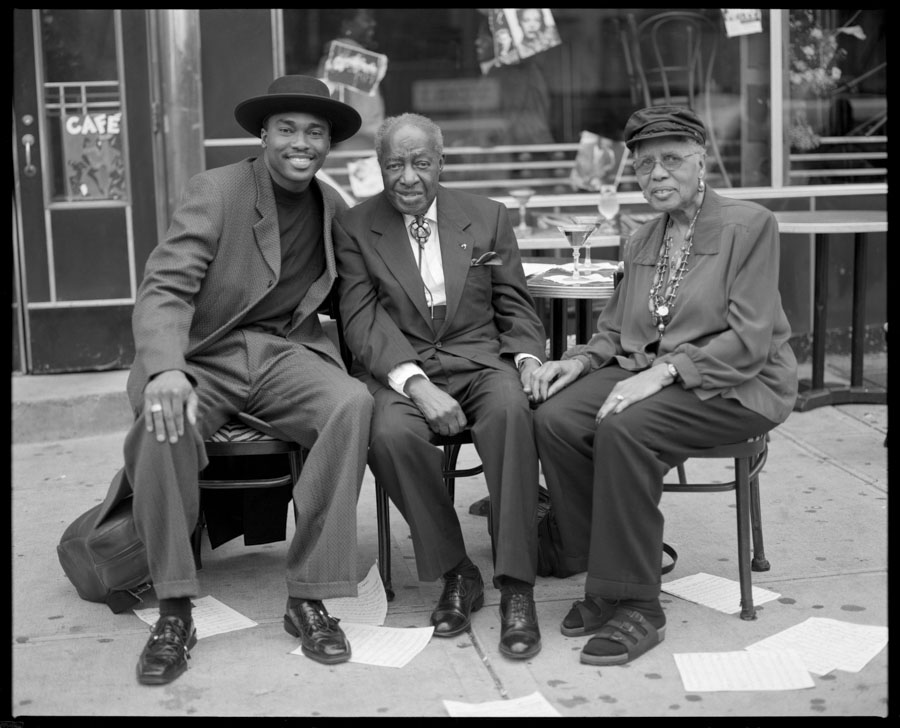 James Carter with Milt and Hona Hinton
