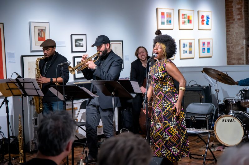 Stacy Dillard, Josh Lawrence, Jason Fraticelli, and Melanie Charles at Black Mountain College
