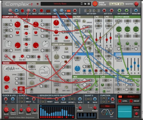 Propellerhead Complex-1 Modular Synth Rack Extension