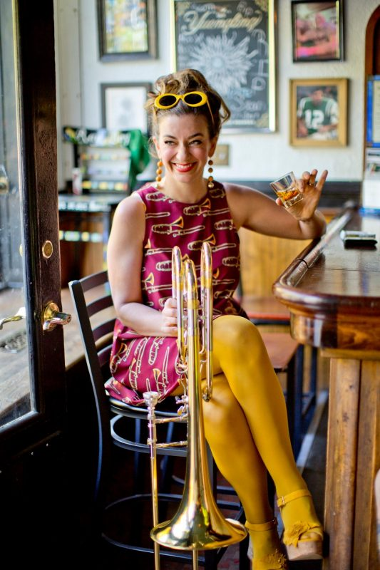 Trombonist Jennifer Wharton (photo by John Abbott)