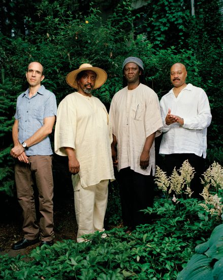 The William Parker Quartet, 2007: Rob Brown, Parker, Hamid Drake, and Lewis Barnes