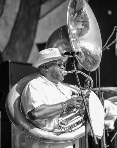 Kirk Joseph at the 2019 New Orleans Jazz & Heritage Festival