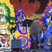 Mardi Gras Indians at the 50th New Orleans Jazz & Heritage Festival