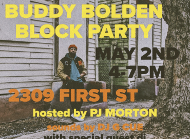 PJ Morton to Host Buddy Bolden Block Party on May 2