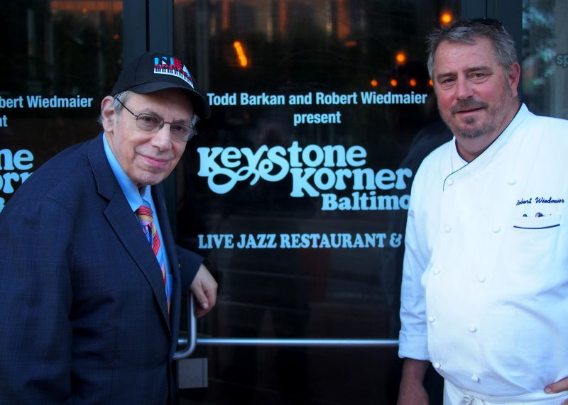 Todd Barkan and Robert Wiedmaier, owners and partners of Keystone Korner Baltimore (photo by Michael Wilderman)