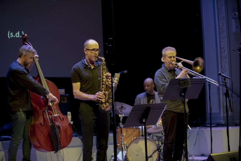 Chris Lightcap, Rob Brown, Chad Taylor, and Nasheet Waits at the 24th annual Vision Festival