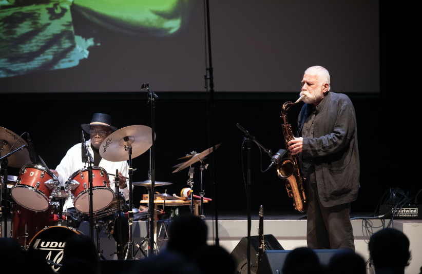 Andrew Cyrilleand Peter Brötzmann at the 24th annual Vision Festival