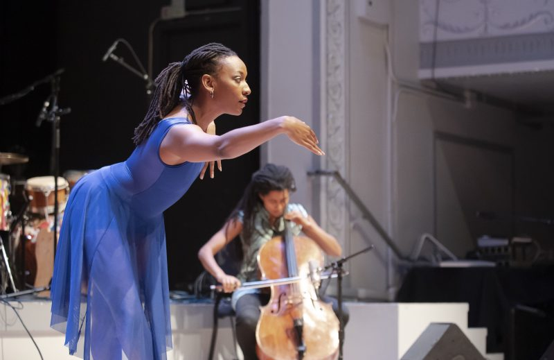 Beatrice Capote and Tomeka Reid at the 2019 Vision Festival