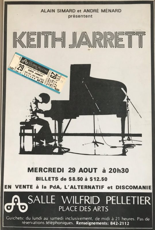 A poster for one of the original Montreal Jazz Festival shows in 1979