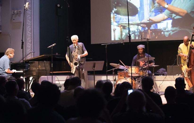 oel Futterman, Kidd Jordan, Hamid Drake, and William Parker at the 24th annual Vision Festival