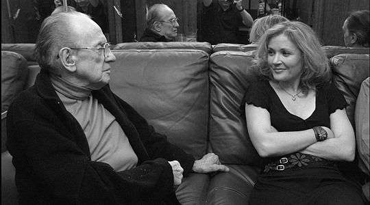 Les Paul and Nicki Parrott (photo by Christopher Lentz)