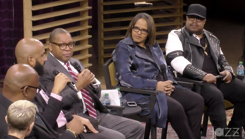 Myra Melford, Christian McBride, Andre Guess, Wynton Marsalis, Terri Lyne Carrington, and Nicholas Payton debate swing at the 2019 Jazz Congress