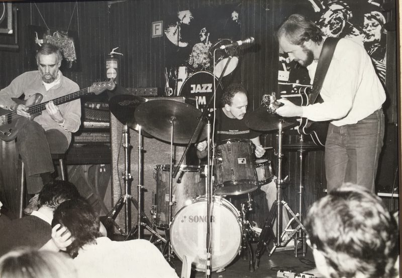 Steve Swallow, Adam Nussbaum, and John Scofield