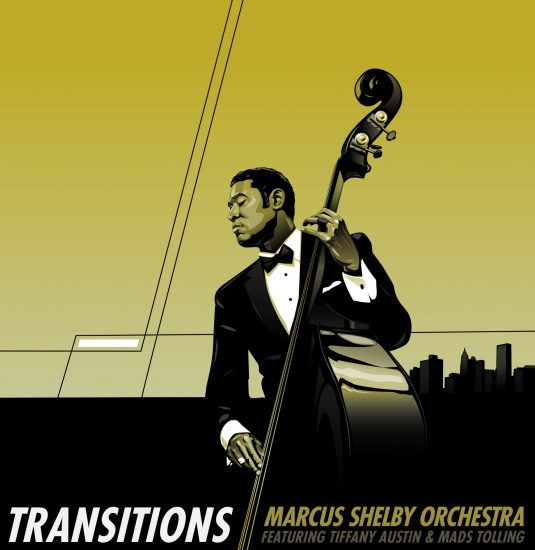 "Cover of Marcus Shelby Orchestra album ""Transitions"""