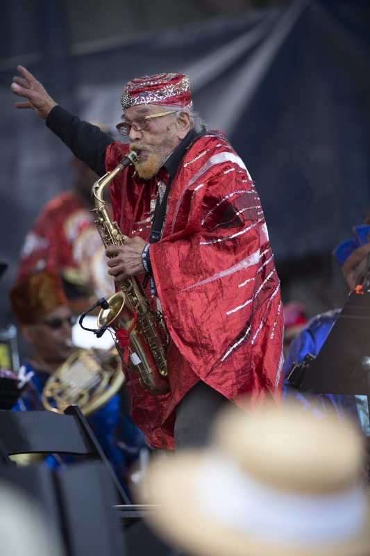 Marshall Allen of the Sun Ra Arkestra at the Newport Jazz Festival, August 2, 2019