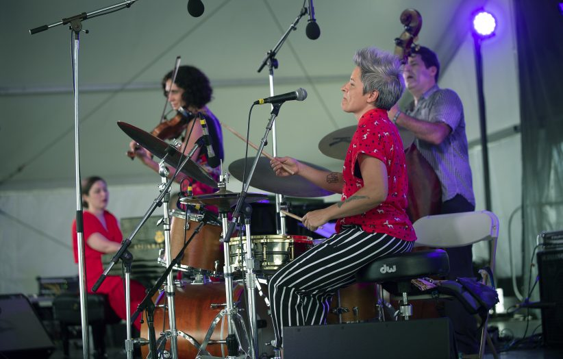 Jenny Scheinman and Allison Miller's Parlour Game (L to R: Carmen Staff, Scheinman, Miller, Tony Scherr) at the Newport Jazz Festival, August 3, 2019