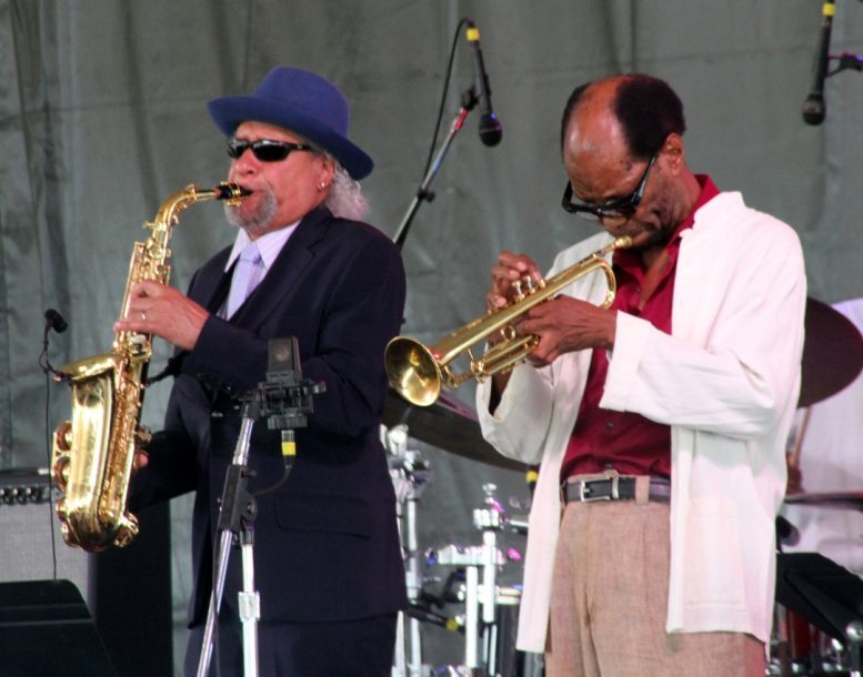 Gary Bartz and Charles Tolliver at the Newport Jazz Festival, August 2, 2019
