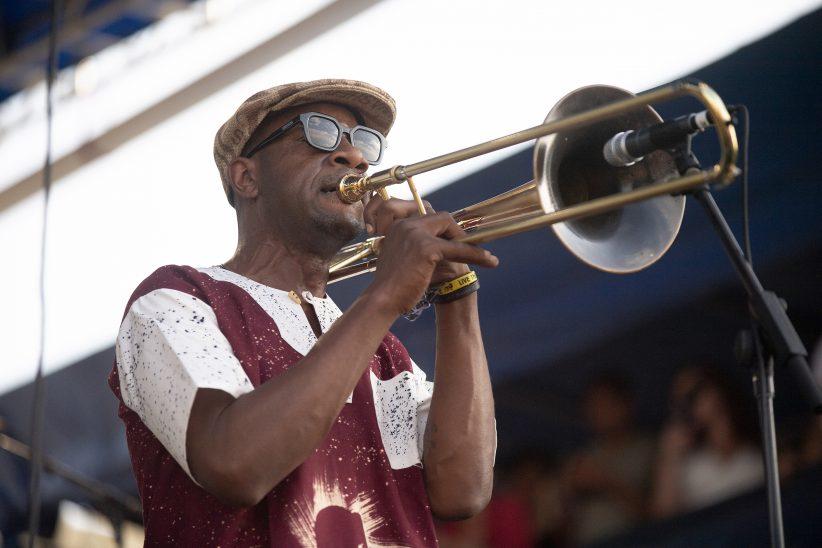 Ryan Porter at the Newport Jazz Festival, August 3, 2019