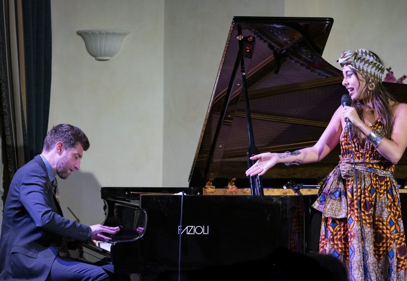 Benny Green (piano) and Veronica Swift (vocals). (photo: Tim Dickeson)