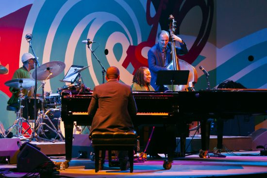 Christian Sands and Geri Allen performing the music of Erroll Garner's Concert by the Sea at the 2015 Monterey Jazz Festival (photo by Craig Lovell/Monterey Jazz Festival)