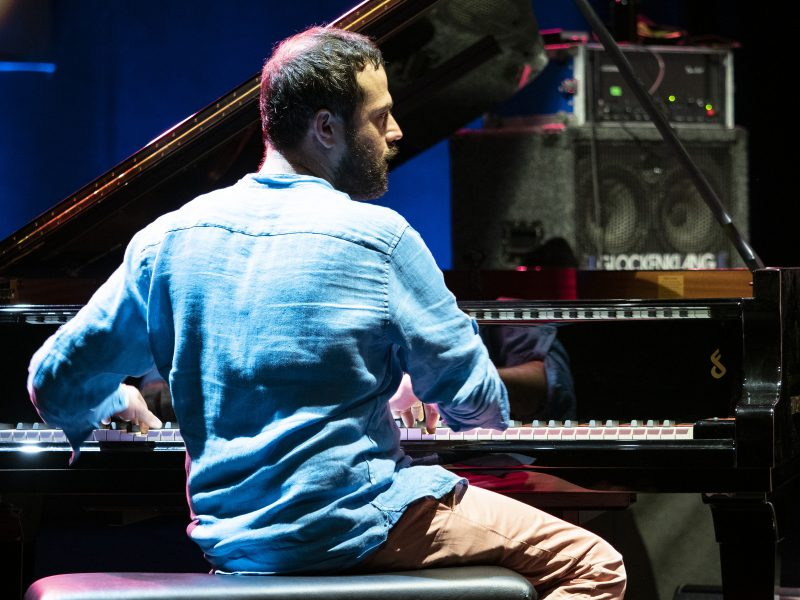 """Giovanni Guidi performs in Enrico Rava's """"Special Edition"""" during the Umbria Jazz Festival. (photo: Tim Dickeson)"""
