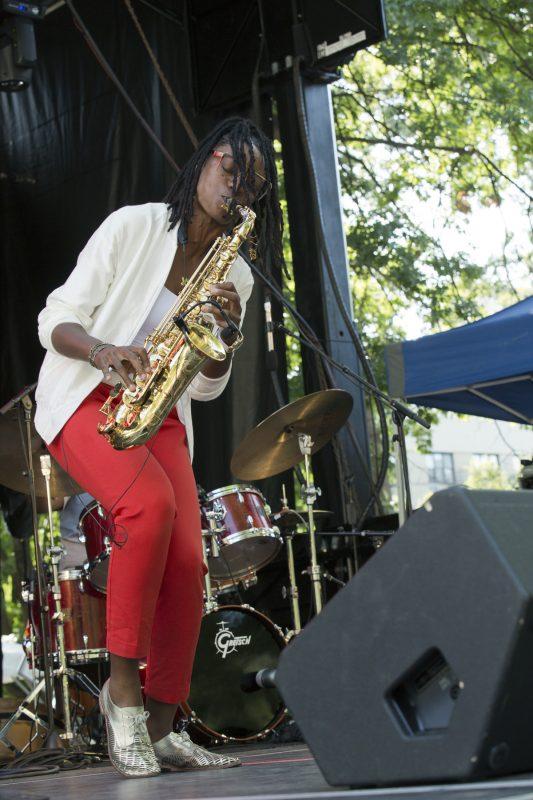 Lakecia Benjamin at the Charlie Parker Jazz Festival