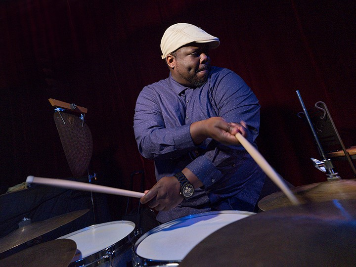 Johnathan Blake (photo by Jimmy Katz)
