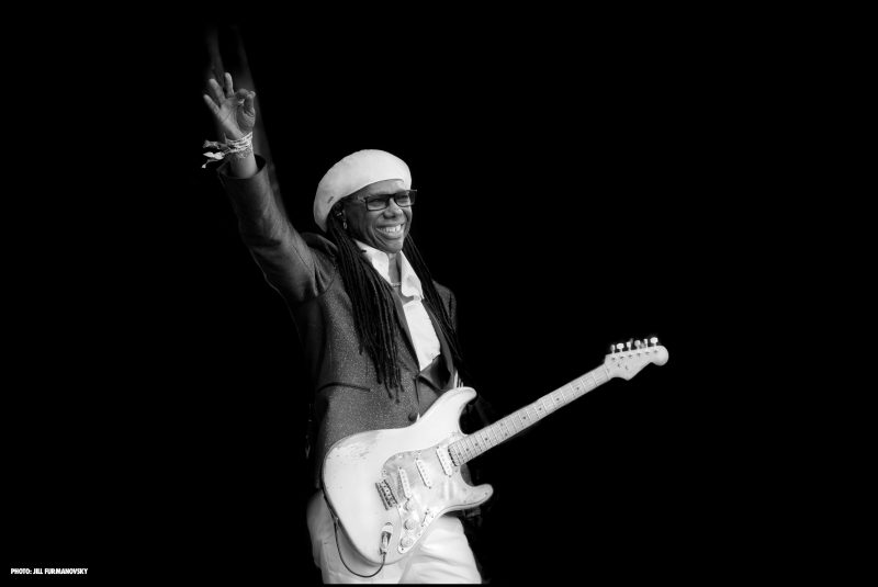 Nile Rodgers at the 2017 Glastonbury Festival