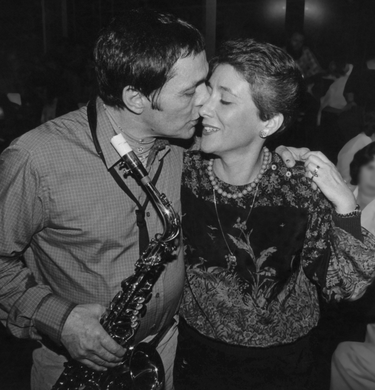 Art Pepper with his wife Laurie at Donte's, Los Angeles, 1980. (courtesy: Laurie Pepper)