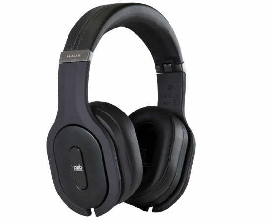 PSB's M4U 8 headphones use Bluetooth technology.