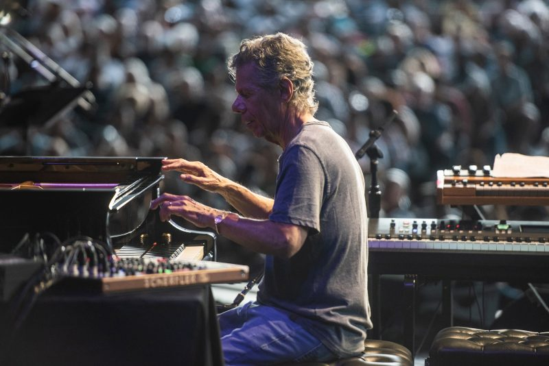 Chick Corea and the Spanish Heart Band performs at the 50th Anniversary Concord Jazz Festival at the Concord Pavilion in Concord, California on August 3, 2019. (photo: Chris Tuite)