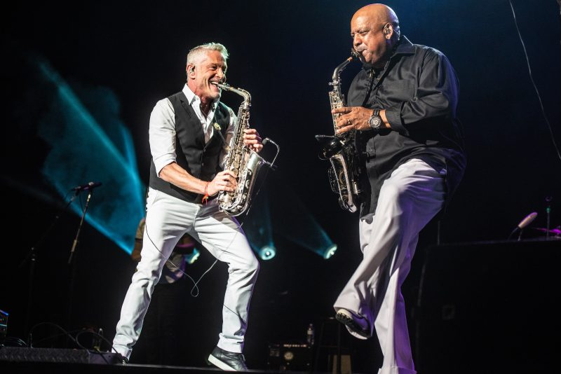 Dave Koz and Friends performs at the 50th Anniversary Concord Jazz Festival at the Concord Pavilion in Concord, California on August 3, 2019. (Photo by Chris Tuite)