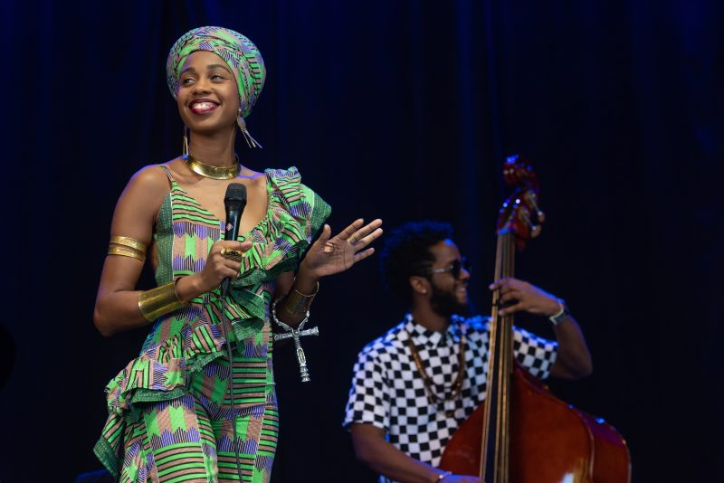 Jazzmeia Horn performs at the 50th Anniversary Concord Jazz Festival at the Concord Pavilion in Concord, California on August 3, 2019. (photo: Chris Tuite)