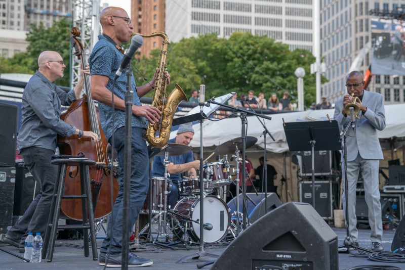 Scott Colley, Joshua Redman, Dave King, and Ron Miles at the 2019 Detroit Jazz Festiva