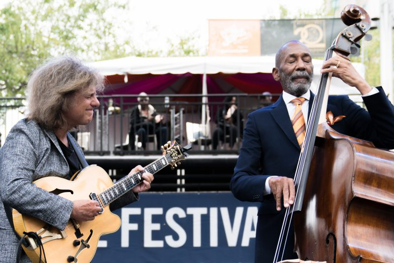 Pat Metheny and Ron Carter at the 2019 Detroit Jazz Festival