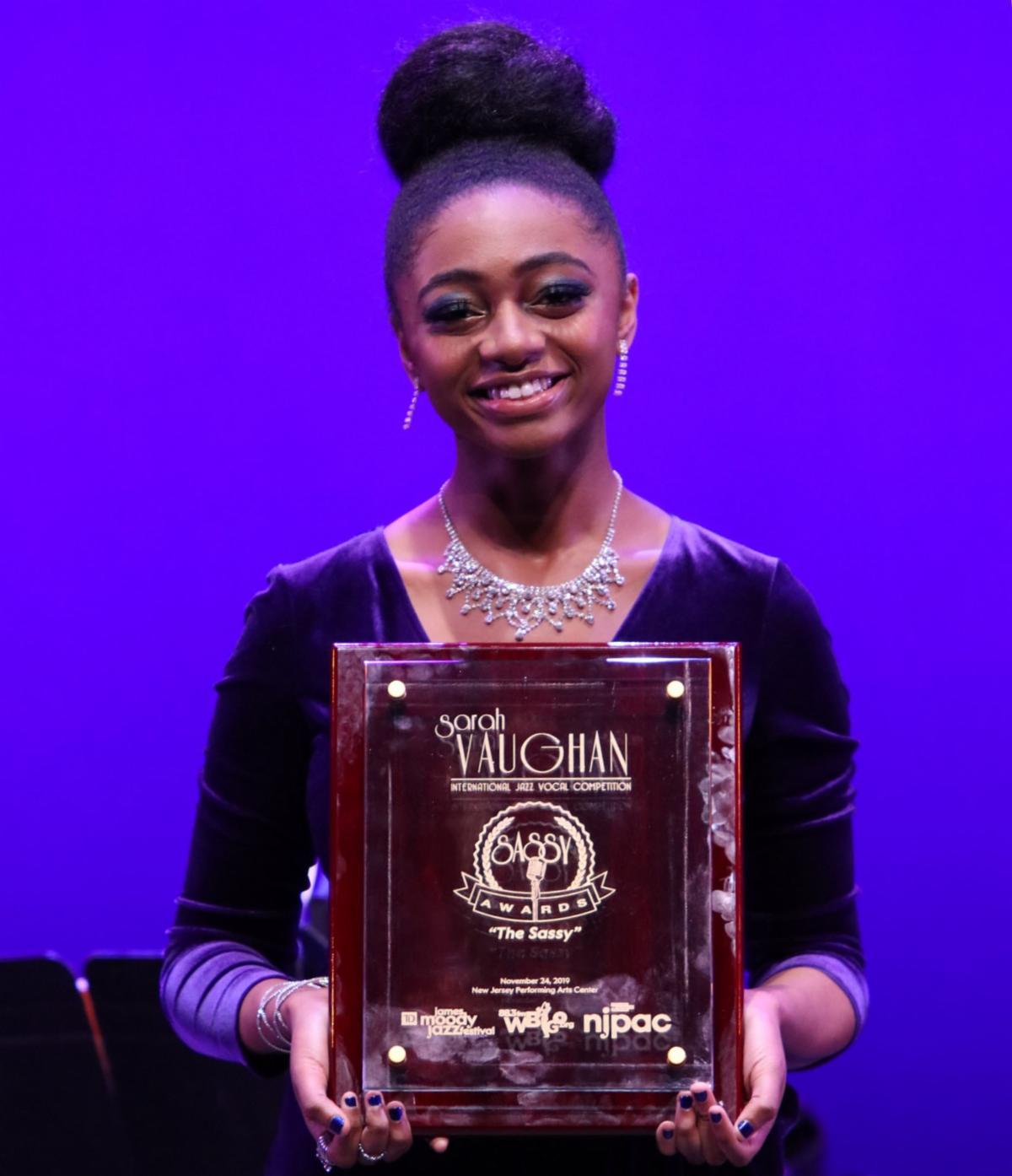 Samara McLendon, winner of the 2019 Sarah Vaughan International Jazz Vocal Competition