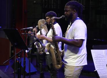 Texas Southern University students perform at the 2019 Monterey Jazz @ TSU symposium