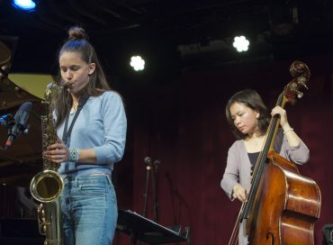 María Grand (L) and Kanoa Mendenhall at the 2019 BRIC JazzFest