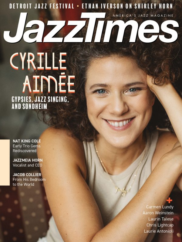 Cyrille Aimée on the cover of JazzTimes