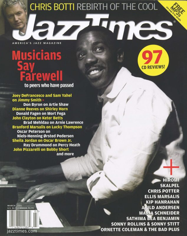 The March 2006 issue of JazzTimes