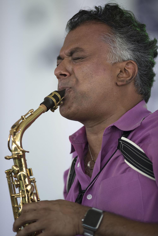 Rudresh Mahanthappa at the 2018 Newport Jazz Festival