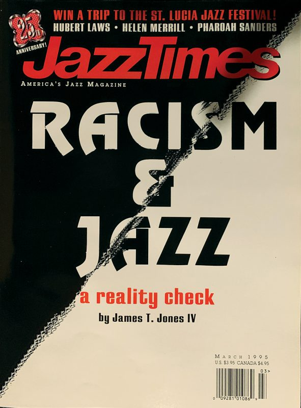 The cover of the March 1995 issue of JazzTimes.