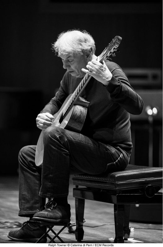 Ralph Towner with his '95 Elliott-Burton classical guitar.